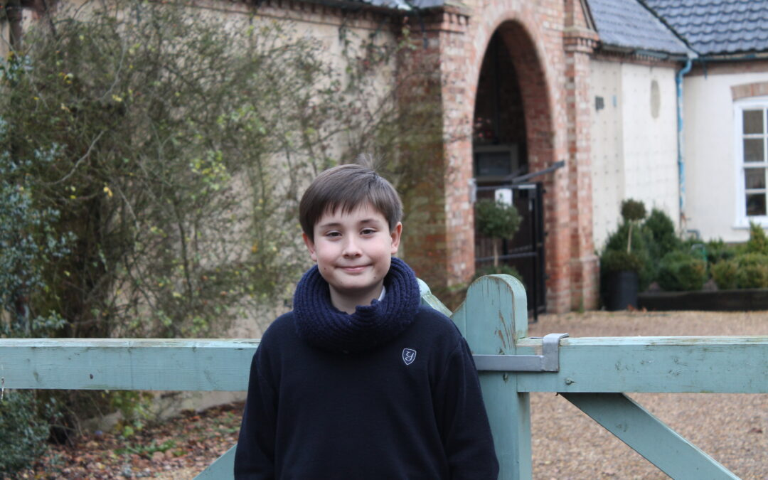 ONE OF OUR PUPILS WELCOMES 2017 AT RIDDLESWORTH HALL SCHOOL. UK