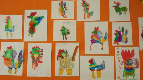 Picasso: Painter of the Month in Infant 5 Art Class