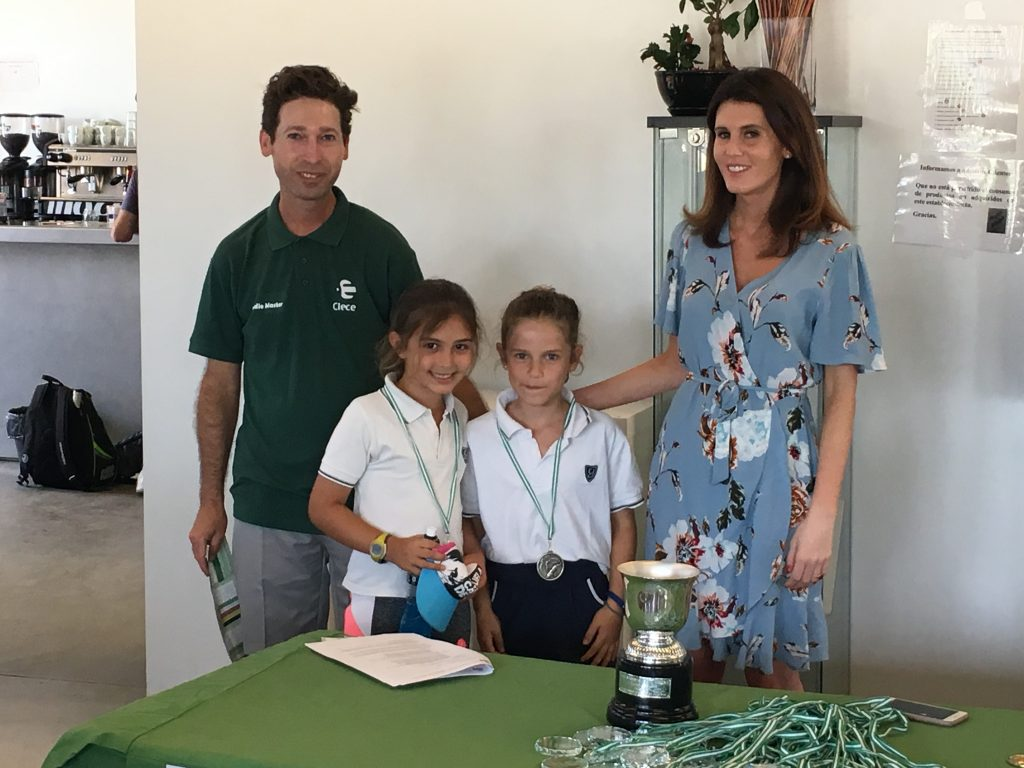 WINNERS IN THE INTER-SCHOOL GOLF CHAMPIONSHIP WESTERN ANDALUSIA