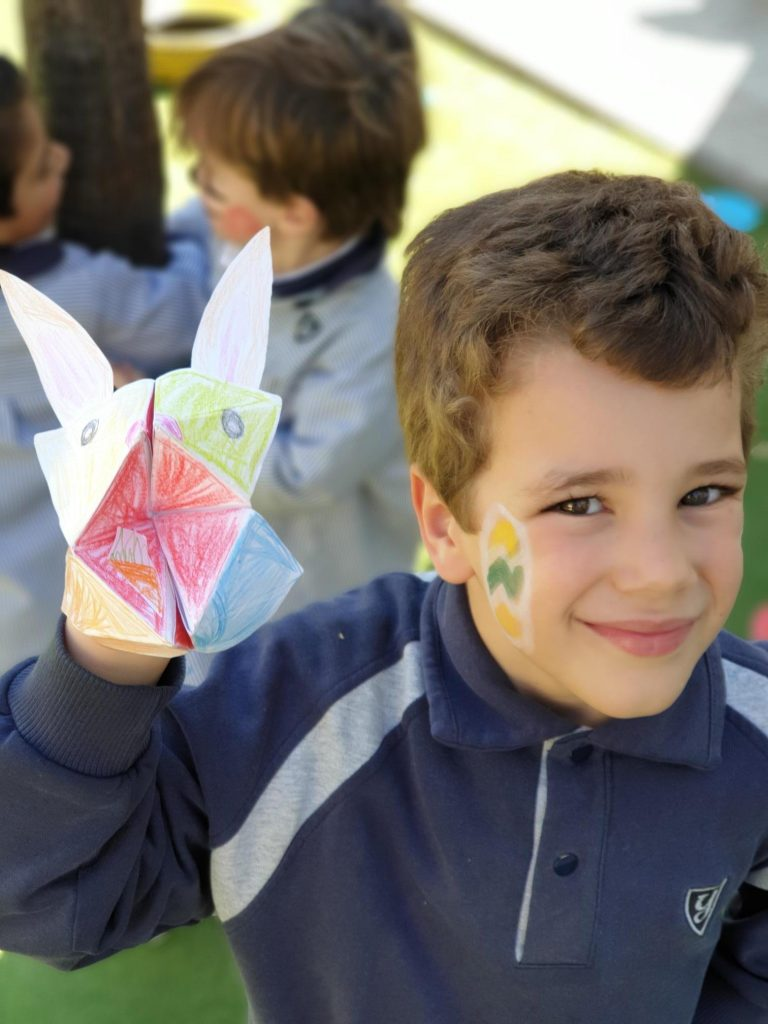 """INFANT STUDENTS OF YAGO SCHOOL CELEBRATE EASTER WITH """"THE EASTER BUNNY"""""""