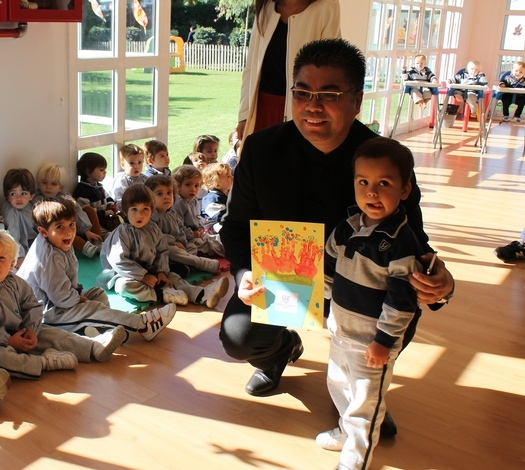 Visit from Mr Kong at Yago School