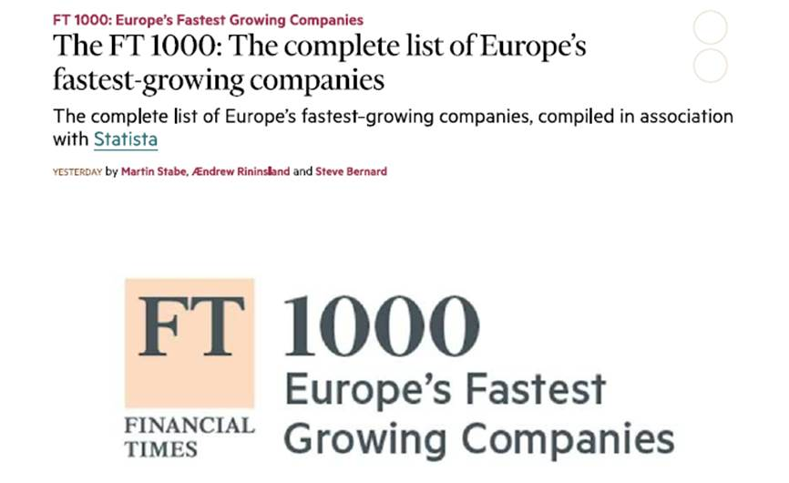 Yago School Yago School, among the 1000 companies that have most grown in Europe