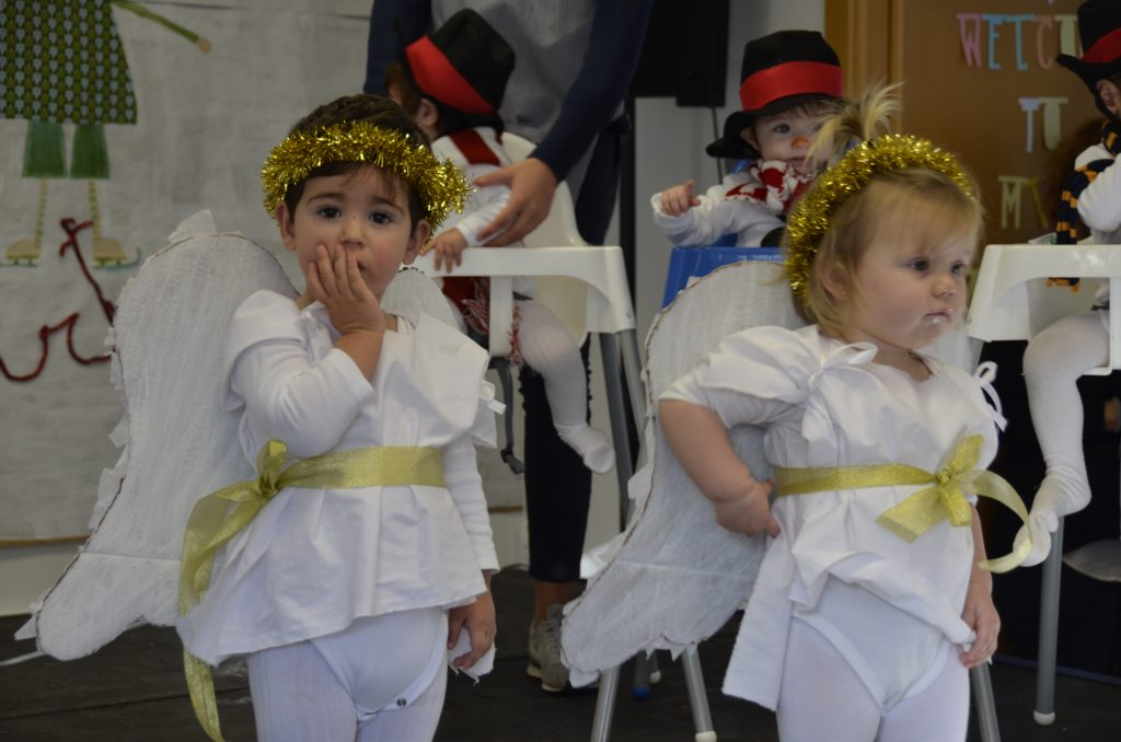 Little angels at Christmas Show in Yago School Nursery