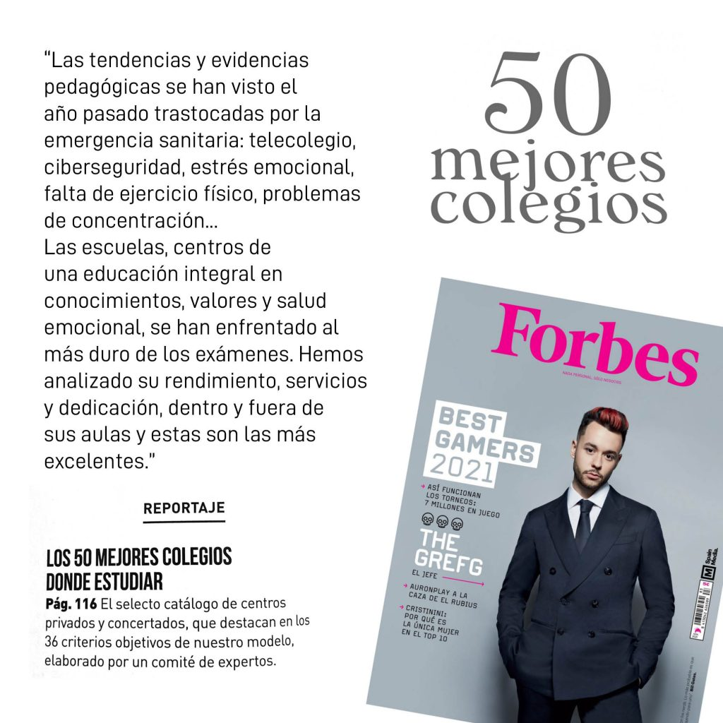 YAGO SCHOOL AMONG THE 50 BEST SCHOOLS IN SPAIN IN 2021 ACCORDING TO FORBES
