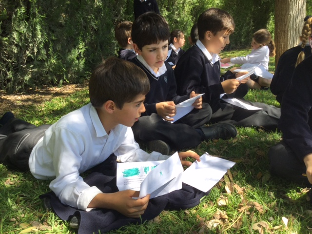 Yago School Students participating in the PenPal Exchange Project